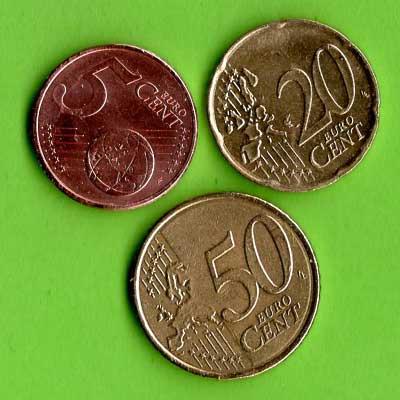 Calcul mental avec des pièces de monnaie